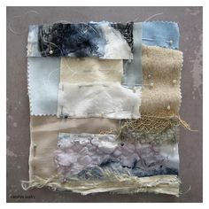CAROLYN SAXBY: Cornish winter skies - stitched collage in progress - first stage pinned and ready to stitch Garra, Fabric Painting, Fabric Art, Carolyn Saxby, Stitch Witchery, Fabric Journals, Textiles, Textile Artists, Texture Art