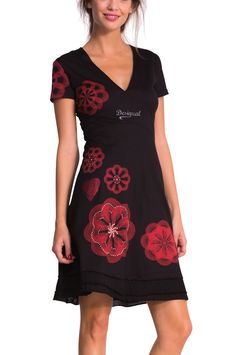 Desigual Cotton Dress Oints, black