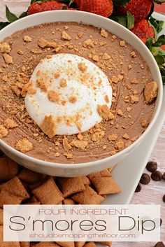 Four-Ingredient S'mores Dip: Perfect for Valentine's or as a late night snack!