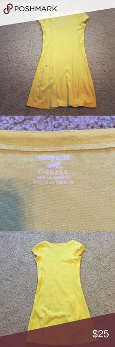 Cute yellow Horny Toad dress XS Stretchy yellow dress by Horny Toad. Super comfy. Extra small. No stains: perfect condition!! Horny Toad Dresses