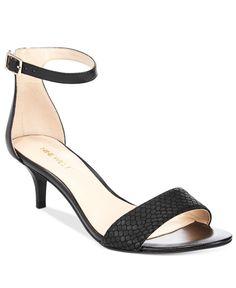 Nine West Leisa Two-Piece Kitten Heel Sandals | macys.com