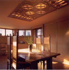 Dining room - Frank Lloyd Wright's Oak Park house