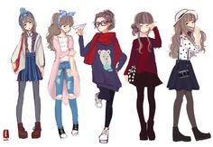 60 Ideas for art girl character design references Arte Fashion, Fashion Mode, Ideias Fashion, Drawing Challenge, Art Challenge, Fashion Design Drawings, Fashion Sketches, Drawing Fashion, Fashion Illustrations