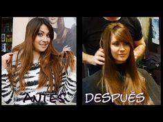 Mi nuevo pelo (color, corte, cuidados...) antes y después. My new hair cut+color. - YouTube