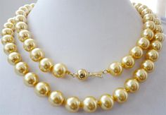 FREE-shipping--32-yellow-South-sea-shell-font-b-pearl-b-font-font-b-necklace.jpg 1,000×694 pixels