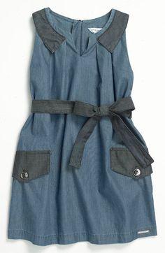 LITTLE MARC JACOBS Sleeveless Chambray Dress (Little Girls & Big Girls) | Nordstrom