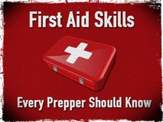 First Aid Skills Every Prepper Should Know - Merriam Webster defines first aid as emergency care or treatment given to an ill or injured person before regular medical aid can be obtained (Merriam Webster, Obviously one of the problems you may encou Emergency First Aid, Emergency Care, Emergency Preparation, Emergency Supplies, In Case Of Emergency, Doomsday Prepping, Survival Prepping, Survival Gear, Survival Skills