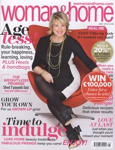Woman & Home Magazine Cover - May 2012 - Makeup by Ariane Poole
