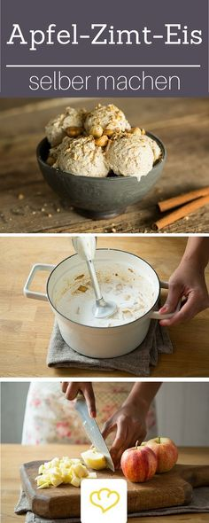 Apple and cinnamon ice cream with roasted hazelnuts apple Cinnamon cream h. Apple and cinnamon ice cream with roasted hazelnuts – apple Cinnamon cream hazelnuts ice ro airfryerrecipes apple breadrecipes christmasrecipes cinnamon cream hazelnuts ic Apple Recipes, Sweet Recipes, Cinnamon Ice Cream, Apple Cinnamon, How To Roast Hazelnuts, Plat Vegan, Health Desserts, Ice Cream Recipes, Healthy Recipes