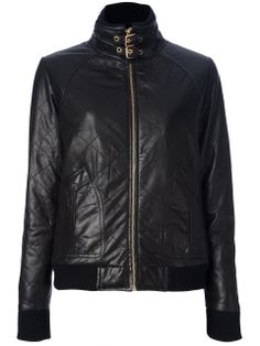 Love the MARC by Marc Jacobs quilted jacket on Wantering | Coat Tales | womens black quilted leahter jacket | womenswear | womens fashion | womens style | wantering http://www.wantering.com...