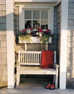 A sheltered niche on the deck. Christopher Baker  - HouseBeautiful.com