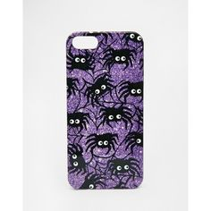 ASOS Halloween Metallic Spider iPhone 5 Case ($12) ❤ liked on Polyvore featuring accessories, tech accessories, multi y asos