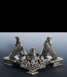 Pharaoh inspired Frederick Elkington & Co. inkwell c.1885