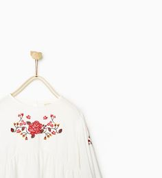 ZARA - SALE - EMBROIDERED FLOWERS BLOUSE