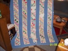 Before picture of restored quilt