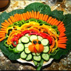 Thanksgiving Turkey Vegetable Platter :)