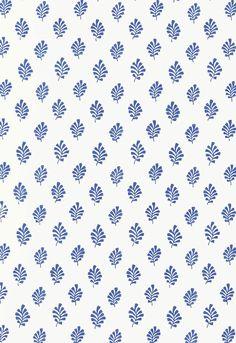 Wit met blauwe pattern