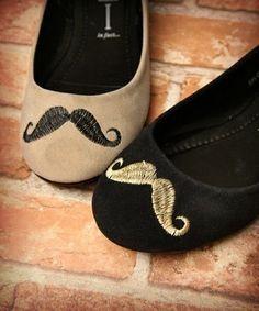 mustache shoes