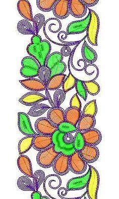 Kolkata Sari Border Embroidery Design