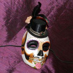 Mexican Day of the Dead Mask Groom Men's Wedding Dia de los Muertos