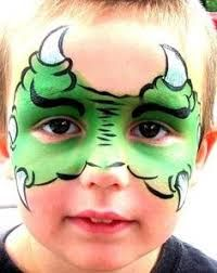 Choose Face Painting for a Kids Party in Kitchener, Waterloo, Cambridge, Guelph and surrounding areas. Call for information about face painting. Face Painting Images, Animal Face Paintings, Face Painting For Boys, Face Painting Designs, Animal Faces, Painting Patterns, Dinosaur Face Painting, Monster Face Painting, Dragon Face Painting