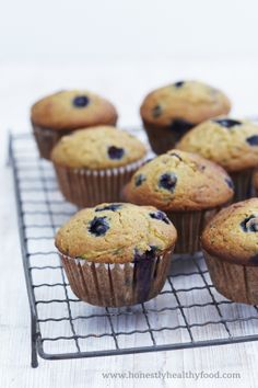 Honestly Healthy Recipe | Blueberry and Courgette Muffins. Alkaline and delicious www.honestlyhealthyfood.com