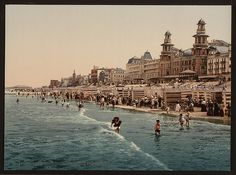 [The beach and Kursaal, (i.e., Cursaal), Blankenberghe, Belgium] (LOC) by The Library of Congress, via Flickr