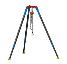 Large Tripod Hoist used to Lift & Hold Construction Equipment Welding Trucks, Welding Cart, Metal Workshop, Garage Workshop, Metal Projects, Welding Projects, Diy Tripod, Lifting Devices, Stair Lift