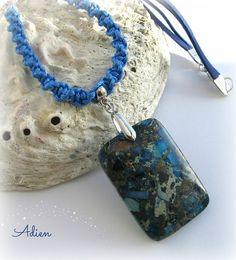 Blue and Grey Large Pendant £10.95