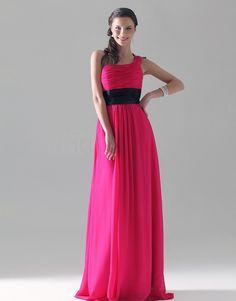 Sheath/Column One Shoulder Floor-length Chiffon/Mading #Bridesmaid/#Wedding Party Dress #00051311