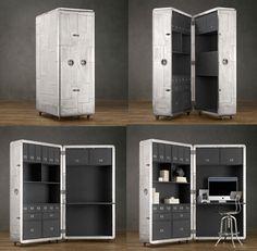 Richards Secretary Trunk Trunks Restoration Hardware Desks Storage E The Final Frontier Pinterest And