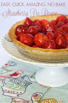 I have tried numerous strawberry pie recipes over the years and this one adapted from America's Test Kitchen is my favorite! Don't tell my mom. :)