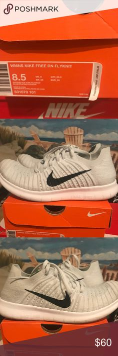 6359eddb3 Nike flynits Whitish color with black. Worn once. Smoke free Mint condition Nike  Shoes