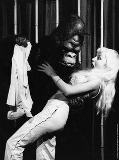 1963 striptease act, Frankfurt night club. (Photo by Keystone/Getty Images).