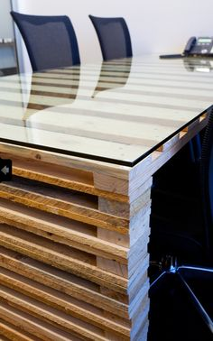 Boardroom table made of Pallets by A1 Interiors
