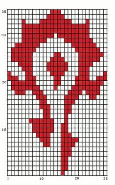 horde symbol cross stitch - Google Search