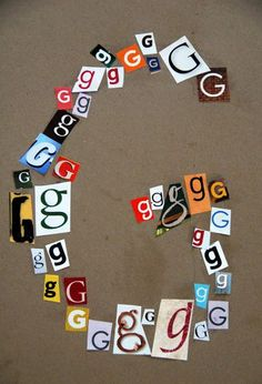Dessiner une lettre avec des lettres!