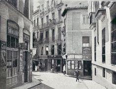 1917. Antes de la Gran Vía. Calle de la Abada | Flickr: Intercambio de fotos