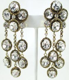 Spectacular Robert Goossens for Chanel Dangle Earrings