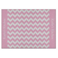 Cotton Candy Pink Chevron Glass Cutting Board ...........This design features a Cotton Candy Pink Chevron pattern. The TEXT on both sides (left and right) can be customized with your own name. Check out my store for more colors.