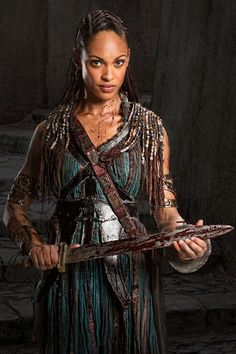 NAEVIA Cynthia Addai-Robinson A former body slave to Lucretia, Naevia was banished from the ludus after engaging in a love affair with Crixus. Her punishment was severe