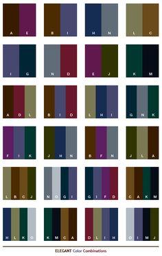 ༺༺༺♥Elles♥Heart♥Loves♥༺༺༺ ............♥Color Charts♥............ #Color #Chart #ColorChart #Inspiration #Design #Moodboard #Paint #Palette #Decorate #Art #Renovate ~ ♥Elegant color combinations
