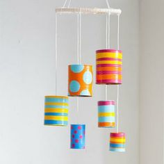 Tin-Can Wind Chime - so cute for summer or summer camp project!