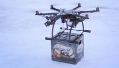 Why not! =) Lakemaid Beer Tests Drone Delivery on Frozen Northern Lakes
