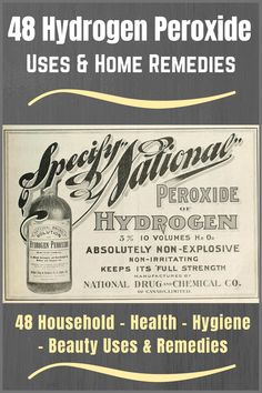 48 Hydrogen Peroxide Uses & Home Remedies To Try Household Cleaning Tips, Cleaning Recipes, Diy Cleaning Products, Cleaning Hacks, Hacks Diy, Survival Prepping, Emergency Preparedness, Survival Skills, Survival Gear