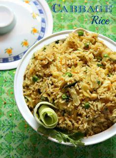 Cook like Priya: Cabbage Rice Recipe | Variety Rice Recipe | Lunch box recipes
