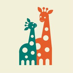 Another cute print for the nursery! Love giraffes!