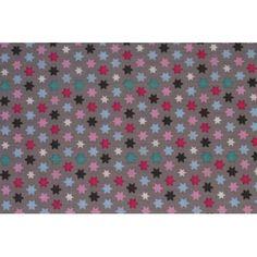 Tissu coton motif étoile, par 50cm
