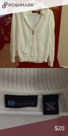 Pullover Too big for me, have a small one that I absolutely love! Goes with anything! Relativity Sweaters