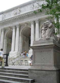 New York Public Library. Where Carrie Bradshaw was going to marry Mr. Big. To find: it's on the corner of fifth Ave & West 42 nd St. Manhattan, NY. Pic from on line site and info on location from Iamnotastalker.com